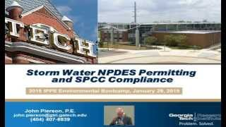 Stormwater NPDES Permitting and SPCC Compliance