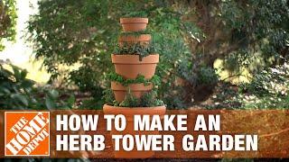 Herb Tower Garden - Container Gardening | The Home Depot
