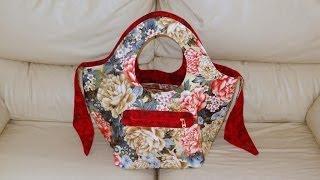 Bolsa/sacola em tecidos Dupla-face