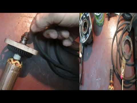 Makita 9565H 1100W УШМ ремонт обгонной муфты.