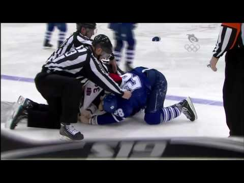 Colton Orr vs. Matt Carkner