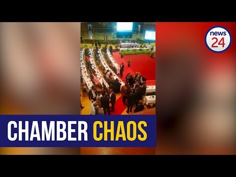 WATCH: eThekwini city manager's bodyguards step in in council amid scuffle