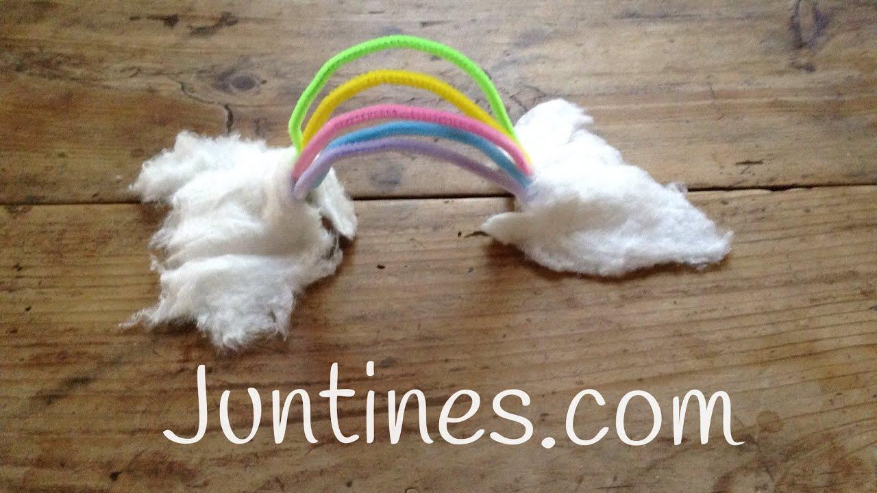 Manualidades con limpiapipas: Arcoiris ☁ Ω ☁