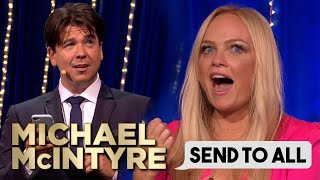 Emma Bunton's Hilarious Wedding Invite Text | Send To All | Michael McIntyre's Big Show