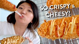 Korean Street Food CHEESE DOG RECIPE Video 🧀 Cheesy & Stretchy!