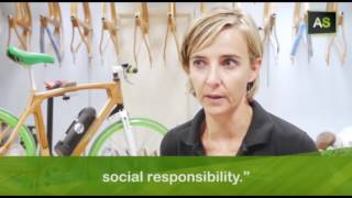 Sustainable mobility with bikes made out of ecological wood