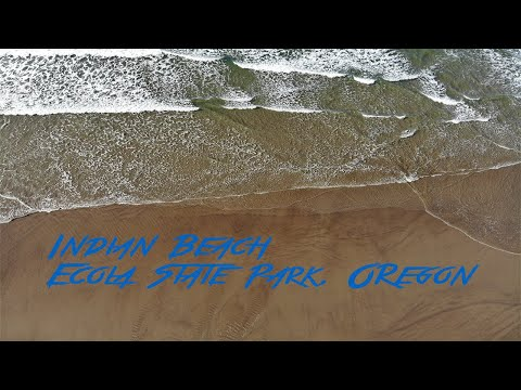 Indian Beach, Ecola State Park, Oregon (Drone 4K)