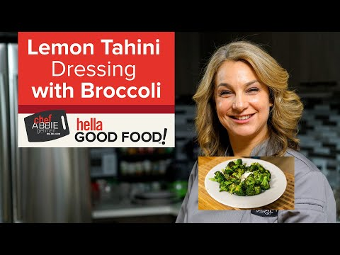 Lemon Tahini Dressing with Roasted Broccoli