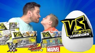 VS Rip-Spin Warriors & Superhero Surprise Egg Unboxing ft Spiderman Toys & WWE Toys | KIDCITY