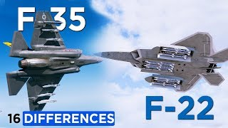 16 Differences Between: F-22 Raptor with F-35 Lightning II
