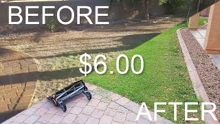 $6 Bermuda Lawn Restoration Project - 1 Year Chronicle of Bringing our Lawn Back to Life