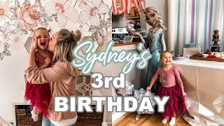 SYDNEYS 3rd BIRTHDAY PARTY| FROZEN| PARTY FOOD IDEAS 2020| Tres Chic Mama