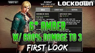 TWD RTS: 6* Amber With 600% Damage To 3, First Look   The Walking Dead: Road To Survival
