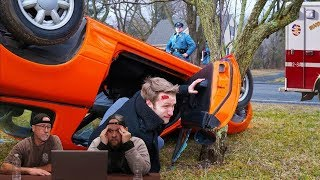 'we got into an accident... *actual footage*' Reaction.