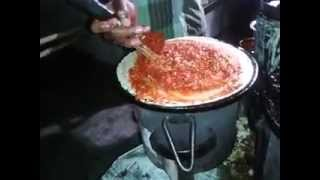 preview picture of video 'How to make Mysore masala dosa - Mumbai street style'