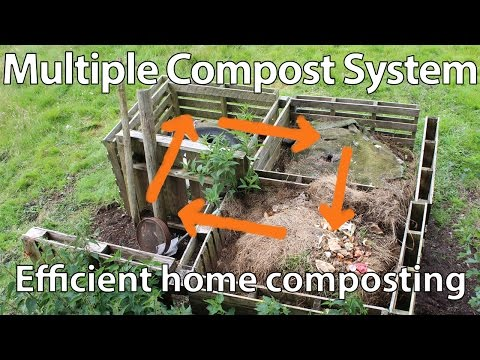 Build a Multiple Compost Bin System