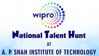 Wipro National Level Talent Hunt at A. P. Shah Institute of Technology