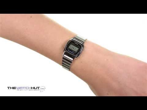 Casio Ladies Silver Tone Digital Watch LA670WEA 1EF