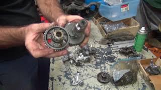 #108 1950 & 1959 panhead bike mock-up harley parts hunting at tatro machine shop tour