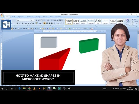 How to make 3d shapes in Microsoft Word | 3d shapes in word | how to make 3d shapes
