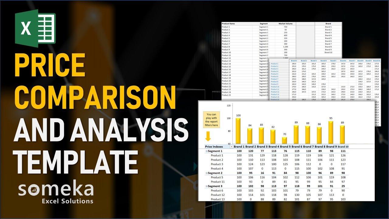Price Comparison and Analysis - Someka Excel Template Video