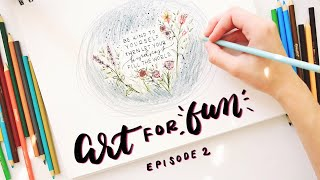 Art for Fun | Coloring outside the lines floral drawing
