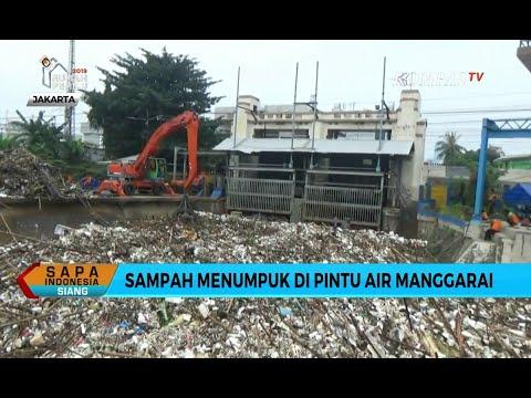 Bogor Hujan Deras, Gunungan Sampah Kembali Tutup Pintu Air Manggarai