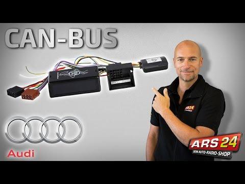 CAN-BUS Adapter zur Installation von Autoradios im Audi - Aktivsystem - CAN-BUS - Lenkradtasten