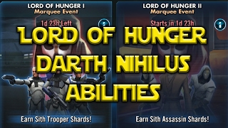 Star Wars: Galaxy Of Heroes - Lord Of Hunger Darth Nihilus Abilities