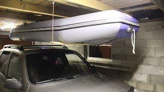 Подвесные системы для лодок в гараже