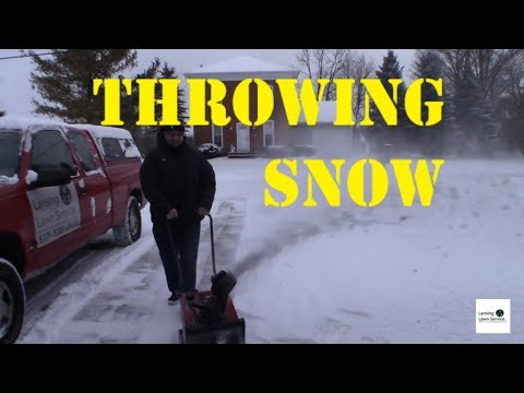 Snow Plowing Action // Toro Power Lite Snow Blower