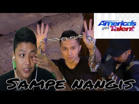 React Video-Demian Aditya-Escape Artist Attempts Deadly Performance-America's Got Talent 2017 (видео)