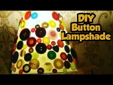 DIY Button Lampshade for kids