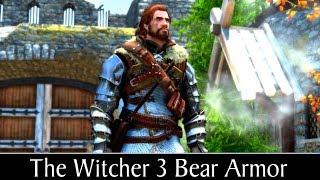Skyrim Special Edition: ▶️The Witcher 3 Bear Armor◀️ Mini Mod Showcase