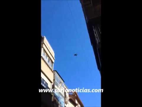 Un dron sorprende a los sorianos en pleno Collado