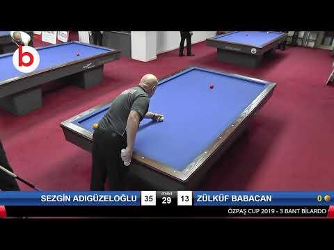 SEZGİN ADIGÜZELOĞLU & ZÜLKÜF BABACAN Bilardo Maçı - SAKARYA ÖZPAŞ CUP 2019-2.TUR