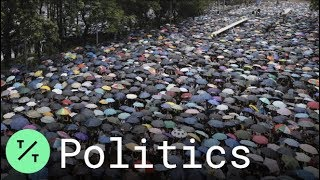 Timelapse: Thousands In Hong Kong March Through Rain In Peaceful Protests