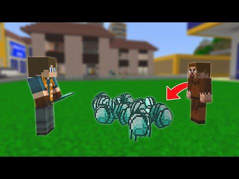FAKİR, İŞÇİYE 100.000 ELMAS VERİYOR! ???? - Minecraft