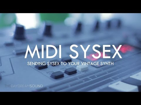 Raspberry Pi Touchscreen - MIDI sysex patch editor demo - смотреть