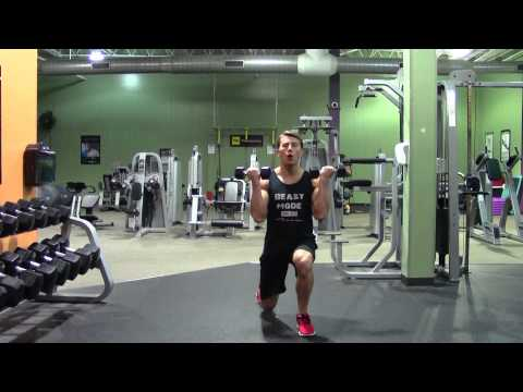Dumbbell Lunge and Curl