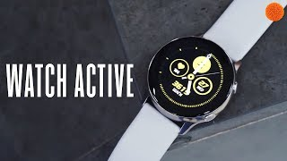 Смарт-часы Samsung Galaxy Watch Active Gold (SM-R500NZDA) от компании Cthp - видео 1