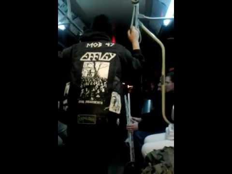 Tweeked Guy on Bus