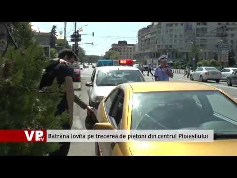 Bătrână lovită pe trecerea de pietoni din centrul Ploieștiului