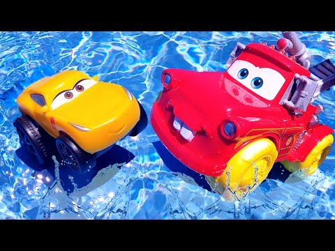 Disney Cars 3 BIG Mater Firefighter Extinguishes A Fire On The Beach Lightning Mcqueen Pixar Cars