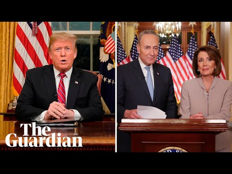 Trump v Democrats: two contrasting views on US border wall proposal