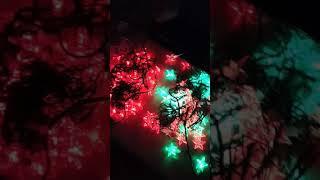 Lampu natal Led salju warna warni lampu hias lampu dekorasi
