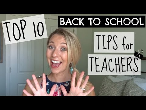TOP 10 BACK TO SCHOOL TIPS FOR TEACHERS | A Classroom Diva