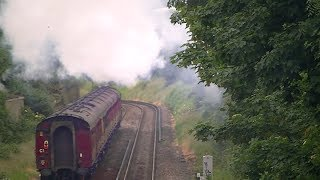 preview picture of video 'Swanage Belle hissing past Brentford, 04 June 2014'