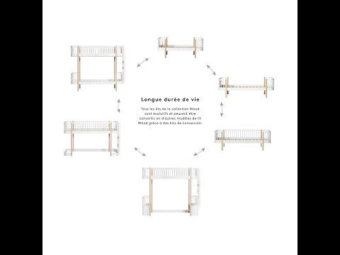 Lits évolutifs enfants Oliver Furniture, design durable éco-responsable