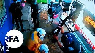 video: Myanmar police kick and punch kneeling medics as frontline workers targeted by junta
